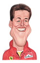 Cartoon: Michael Schumacher (small) by Gero tagged caricature