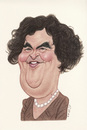 Cartoon: Susan Boyle (small) by Gero tagged caricature