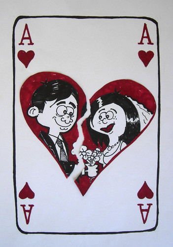 Cartoon: Gambling (medium) by tanerbey tagged gamblern,gambling,marriage,love,divorce
