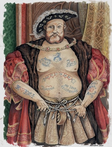 Cartoon: Henry VIII. (medium) by Ashmarin Stanislav tagged henry,viii