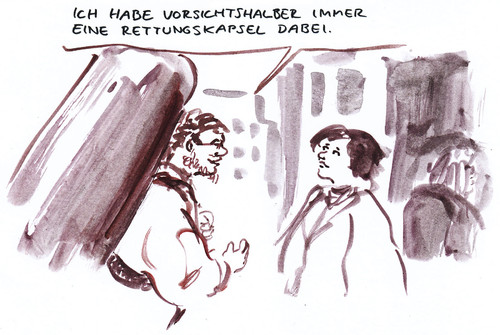Cartoon: Abgesichert (medium) by Bernd Zeller tagged sicherheit