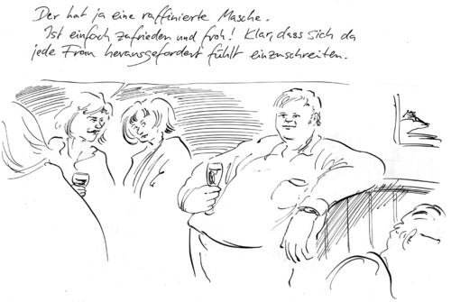 Cartoon: Attraktivität (medium) by Bernd Zeller tagged masche