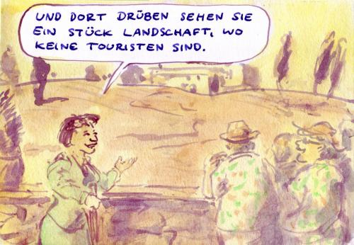 Cartoon: Aussicht (medium) by Bernd Zeller tagged tourismus,reisen