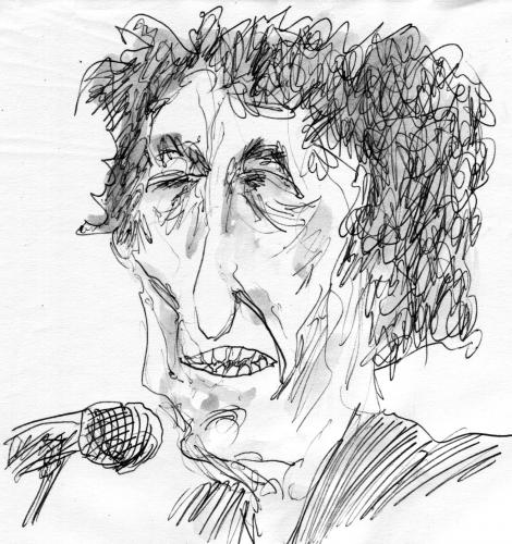 Cartoon: Dylan (medium) by Bernd Zeller tagged music,singer,track,musik,song,bob,protest,1968