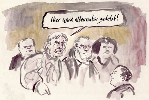 Cartoon: Einzige Option (medium) by Bernd Zeller tagged alternativ,option