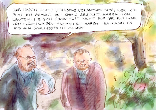 Cartoon: Gewissensbelastung (medium) by Bernd Zeller tagged künstler
