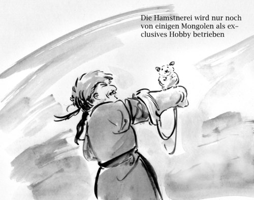 Cartoon: Hamstner (medium) by Bernd Zeller tagged hamster,falknerei