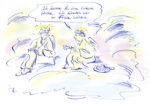 Cartoon: Hommage (medium) by Bernd Zeller tagged hommage