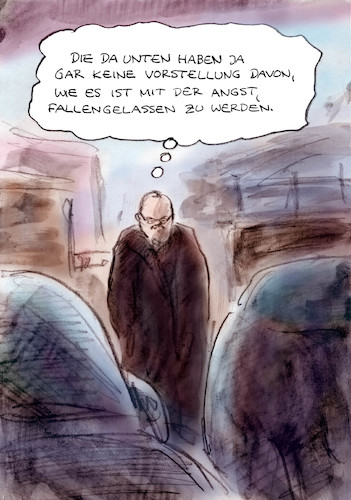 Cartoon: Kein Verständnis (medium) by Bernd Zeller tagged journalist