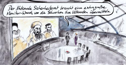 Cartoon: Nationaler Sicherheitsrat (medium) by Bernd Zeller tagged nationaler,sicherheitsrat