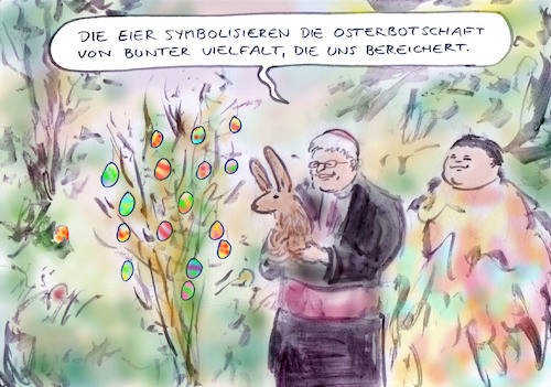 Cartoon: Ostern (medium) by Bernd Zeller tagged ostern