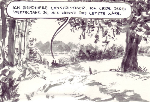 Cartoon: Planung (medium) by Bernd Zeller tagged lebensplanung,lebensabschnitte,tod