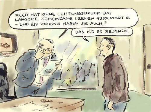 Cartoon: Schulreform (medium) by Bernd Zeller tagged schulreform