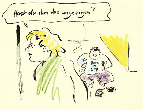 Cartoon: Shirt-Aufschrift (medium) by Bernd Zeller tagged kinder,slogans,shirts