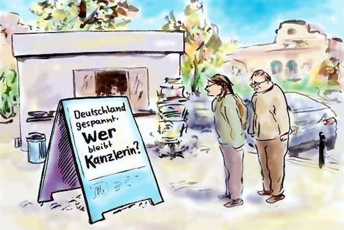 Cartoon: Spannend (medium) by Bernd Zeller tagged wahlen
