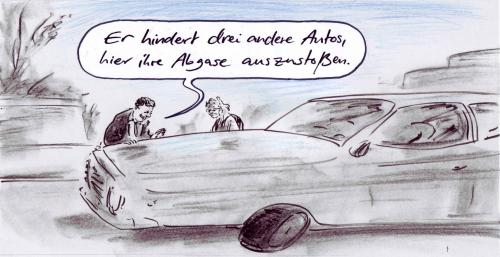 Cartoon: Umweltzone (medium) by Bernd Zeller tagged climate,klima,auto,car,abgase,co2,erderwärmung