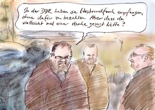 Cartoon: Undankbarer Osten (medium) by Bernd Zeller tagged osten