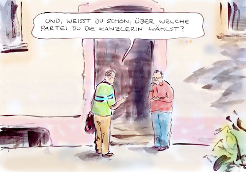 Cartoon: Wahlentscheidung (medium) by Bernd Zeller tagged wahlen