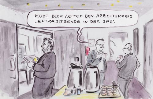 Cartoon: Wichtige Funktion (medium) by Bernd Zeller tagged beck,spd,parteien,parteivorsitz
