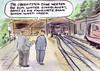 Cartoon: Chance bei der Bahn (small) by Bernd Zeller tagged bahn,db,ice