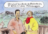 Cartoon: Kampagne gegen Linkenchef (small) by Bernd Zeller tagged linke,ernst