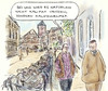Cartoon: Westliche Dominanz (small) by Bernd Zeller tagged kalifat,migration,islam