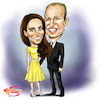 Cartoon: Kate and William (small) by Marycaricature tagged duke,and,duchess,of,cambridge,kate,william