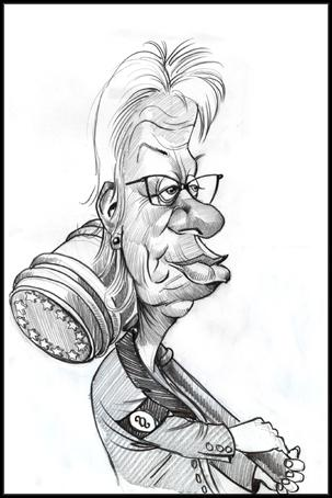 Cartoon: Carla DelPonte (medium) by Nenad Vitas tagged war