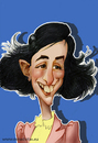 Cartoon: ANA FRANK (small) by Nenad Vitas tagged diary,ana,frank,ww2,holokaust