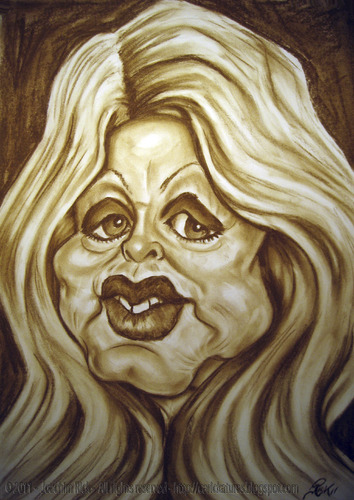 Cartoon: Brigitte Bardot (medium) by Portraits-Karikaturen tagged diva,franzoesische,brigitte,bardot
