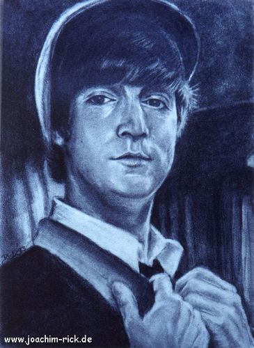 Cartoon: John Lennon - 1964 (medium) by Portraits-Karikaturen tagged john,lennon,musiker,the,beatles,1964,portrait,portraits,portraitzeichnung,bleistift