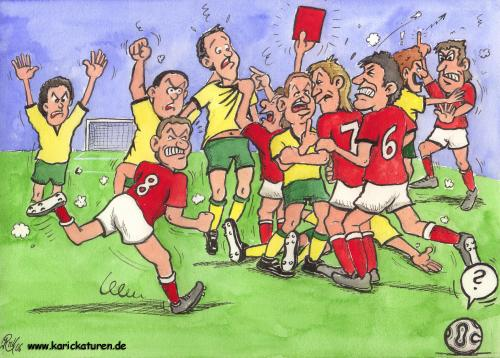 Cartoon: Fussball -  Rudelbildung - 2006 (medium) by Portraits-Karikaturen tagged fußball,fußballkarikatur,fußballspieler,fussballkarikatur,fussball,karikatur,rudelbildung