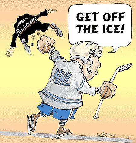 Cartoon: Get off the ice! (medium) by wyattsworld tagged sports,hockey,politics