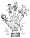 Cartoon: Finger puppets (small) by wyattsworld tagged politics,canada,yukon