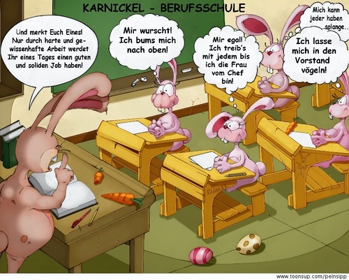 Cartoon: Karnickel (medium) by Charmless tagged hase,karnickel,schule,berufsschule,lehrer