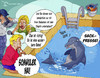 Cartoon: Delphin 2 (small) by Charmless tagged delphin,delphintrainer,reporter,reporterin