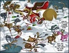 Cartoon: Rudolf Die Pause (small) by Charmless tagged rudolf,rudolph,weihnachtsmann,renntier,schnee,schlitten,unfall,geschenk,baum,winter,weihnachten