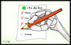 Cartoon: Corona-to do list (small) by Fish tagged corona,covid19,virus,epidemie,pandemie,ansteckung,quarantäne,tod,krank,fish