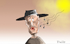 Cartoon: Ennio Morricone RIP (small) by Fish tagged ennio,morricone,musik,filmmusik,spiel,mir,das,lied,vom,tod,hängt,ihn,höher,the,god,bad,and,ugly,italo,western,clint,eastwod,sergio,leone