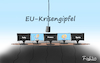 Cartoon: EU-Krisengipfel (small) by Fish tagged corona,covid19,epidemie,pandemie,tod,seuche,fish,krank,krankheit