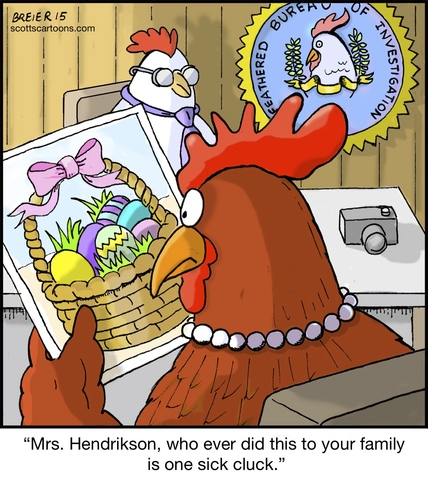 Cartoon: Easter Surprise (medium) by noodles tagged easter,eggs,chicken,holiday,fbi