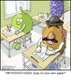 Cartoon: Cheating Spud (small) by noodles tagged mr,potato,head,cheating,on,test