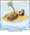 Cartoon: cliche (small) by noodles tagged noodles,desert,island,stranded,psychologist