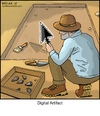 Cartoon: Digital Artifact (small) by noodles tagged digital,artifact,computer,cursor,pointer,archeology,dig