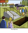 Cartoon: Final Trick (small) by noodles tagged skateboard,railslide,death,funeral,trick,casket,hearse