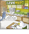 Cartoon: Grubway (small) by noodles tagged subway birds grubs maggots noodles fast food