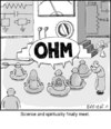Cartoon: Ohm (small) by noodles tagged science,spirituality,chanting,meditation,ohm,sound