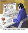 Cartoon: Vampire Dating (small) by noodles tagged dracula,vampire,on,line,dating,internet,romance,love,blood