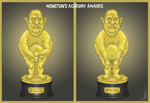 Cartoon: Weinstein Awards (medium) by NEM0 tagged harvey,weinstein,producer,scandal,rape,rapist,accusations,metoo,miramax,showbusiness,movie,awards,oscars,cinema,hollywood,culture,sexual,abuse,harassment,casting,couch,nem0,nemo,harvey,weinstein,producer,sex,scandal,rape,rapist,accusations,metoo,miramax,showbusiness,movie,awards,oscars,cinema,hollywood,culture,sexual,abuse,harassment,casting,couch,nem0,nemo