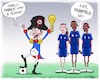Cartoon: Franfrica Wins in Russia (small) by NEM0 tagged fifa,world,cup,football,futbol,mundial,mondial,soccer,croatia,macron,napoleon,win,russia,fff,federation,francaise,de,footbal,griezmann,pogba,mbappe,france,africa,franfrica,nem0,nemo